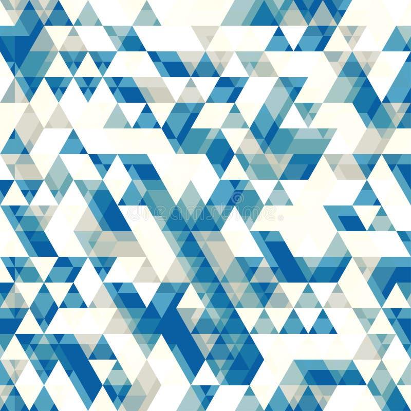 Retro- abstraktes Muster mit Dreiecken vektor abbildung