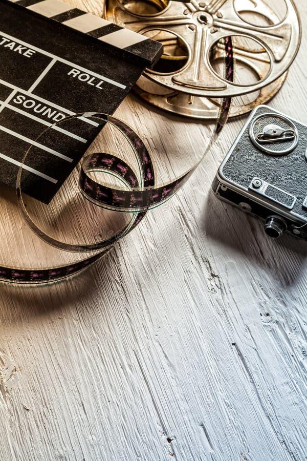 Retro accessori del film fotografia stock libera da diritti