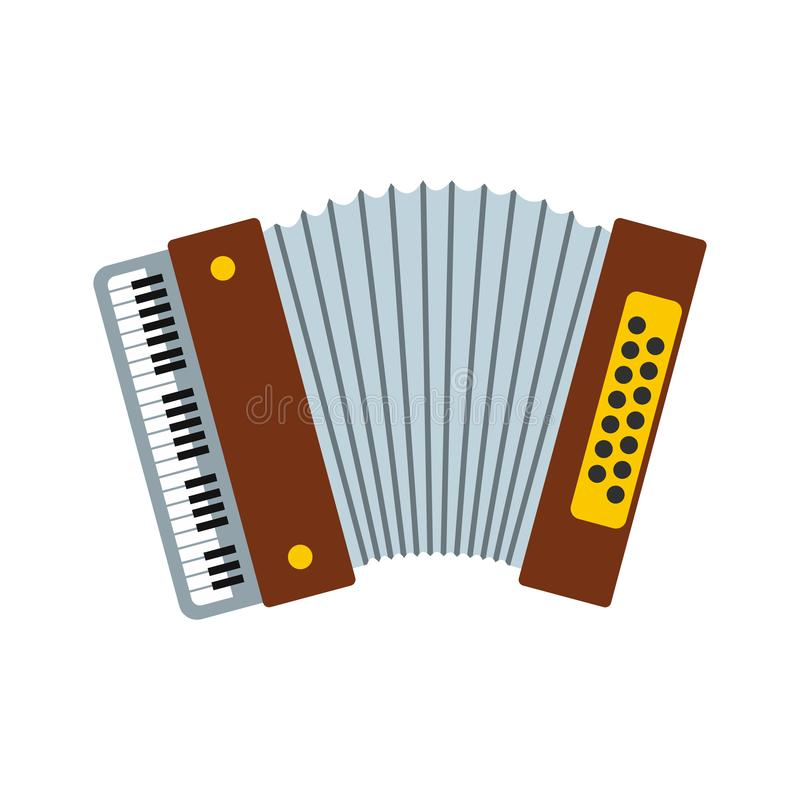 Retro accordion icon. In flat style isolated on white background vector illustration