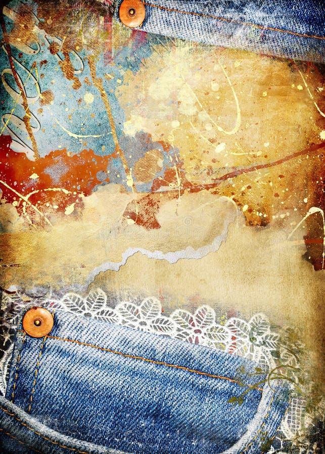 Retro achtergrond stock illustratie
