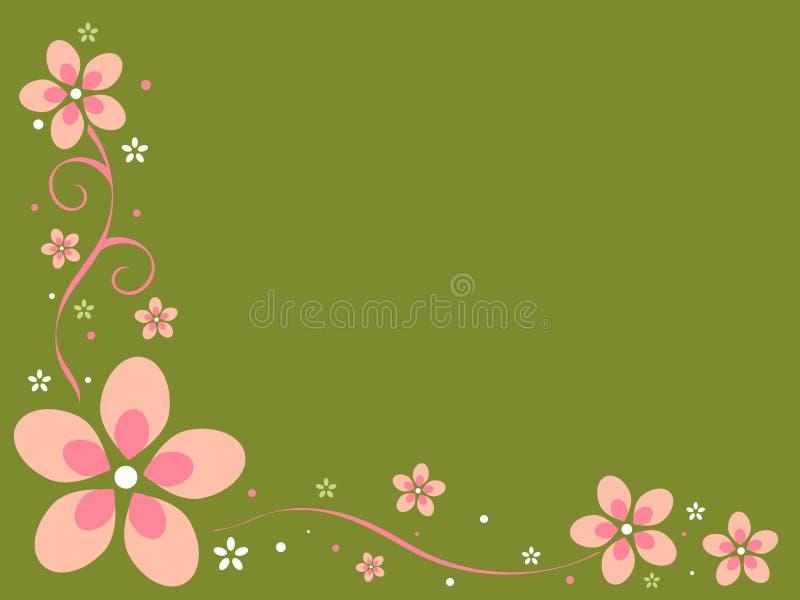 Retro Achtergrond van Bloemen royalty-vrije illustratie