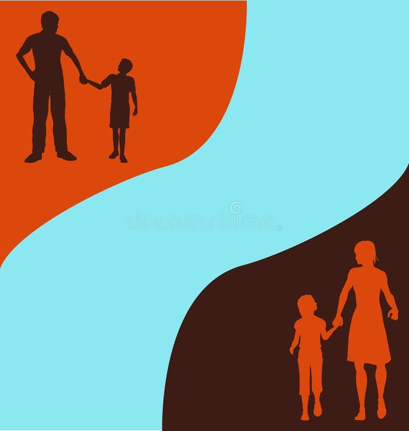 Retro Achtergrond van de Familie vector illustratie