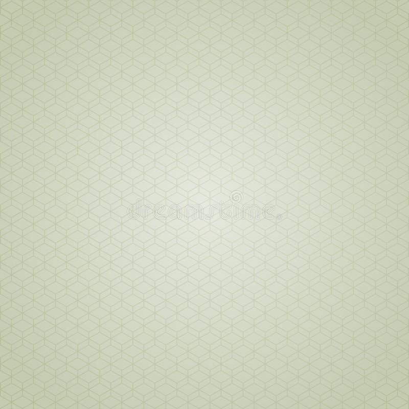 Retro achtergrond van de kubus stock illustratie
