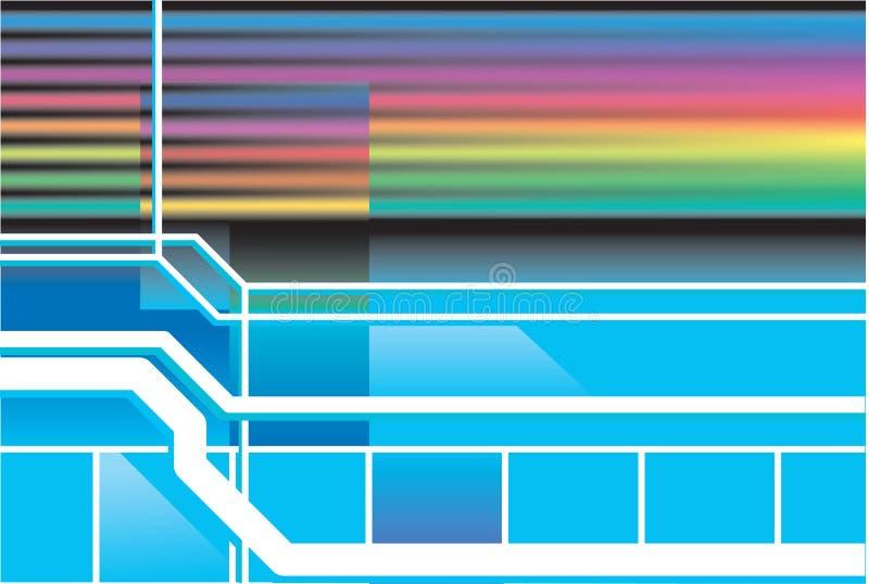 Retro achtergrond van de neonjaren '80 royalty-vrije illustratie