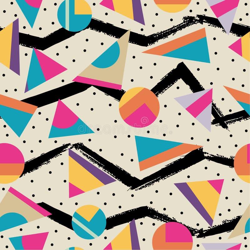 Retro achtergrond van het de jaren '80 naadloze patroon vector illustratie