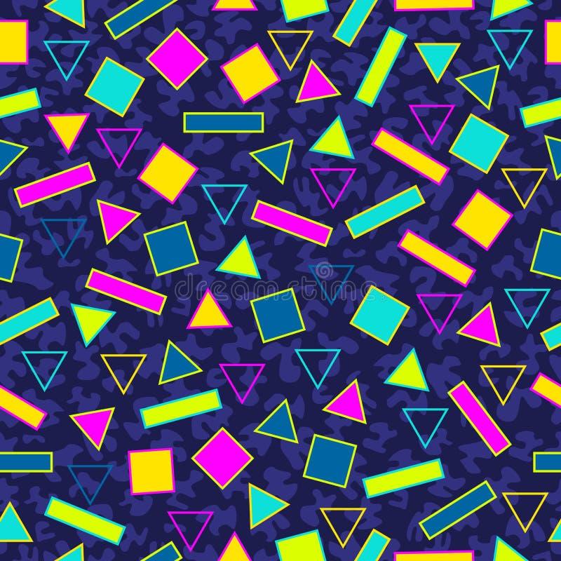 Retro achtergrond van het de jaren '80 naadloze patroon stock illustratie