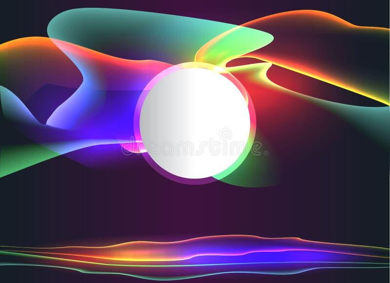 Retro achtergrond van het neongolven van de de jaren '80stijl vector illustratie