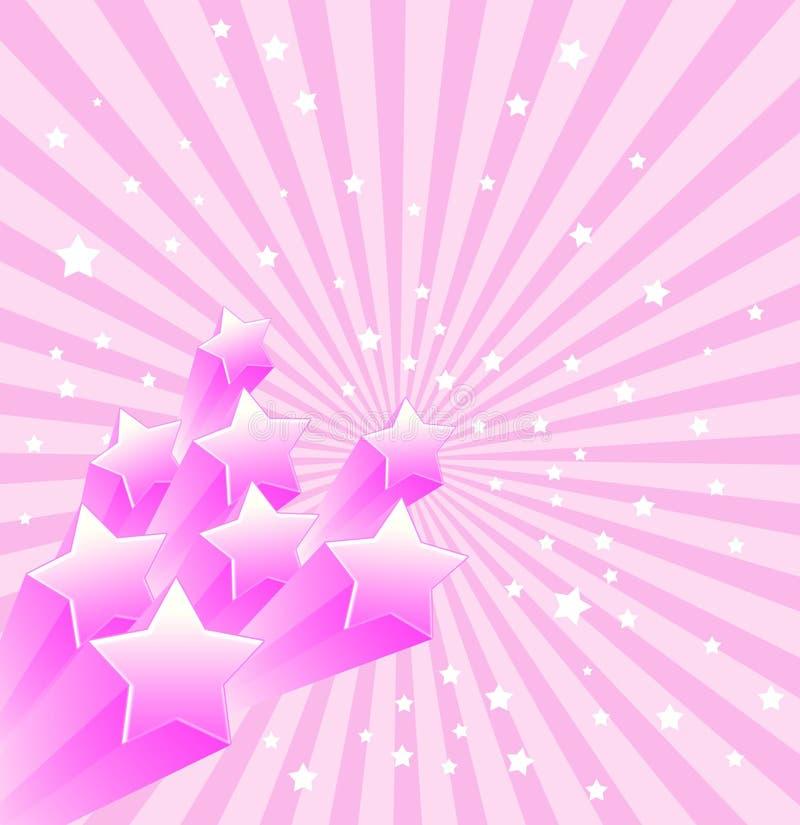 Retro Achtergrond van sterren stock illustratie