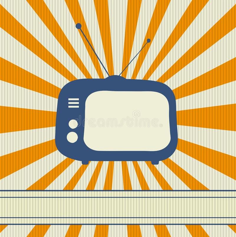 Retro achtergrond van TV stock illustratie