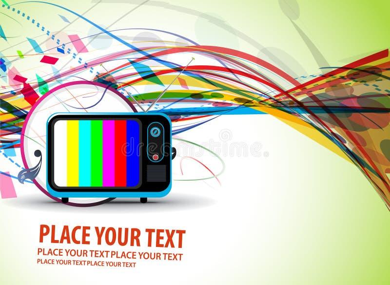 Retro Achtergrond van TV vector illustratie