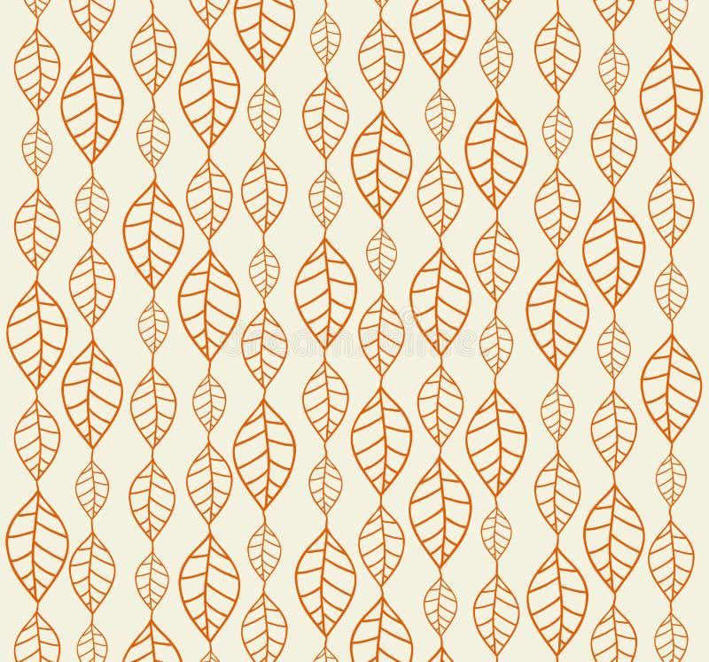 Retro achtergronden van de herfstbladeren stock illustratie