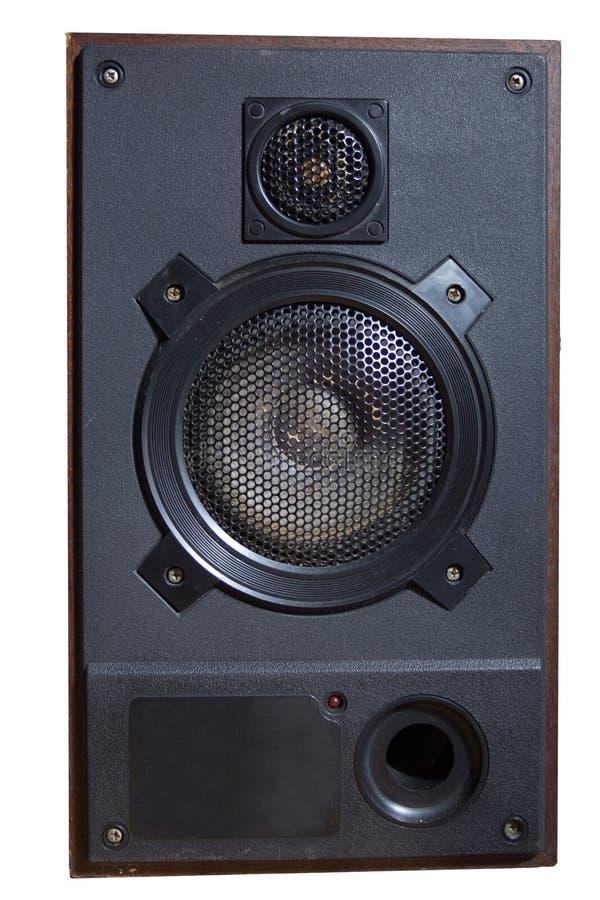 Retro acoustic system. Retro two way hi fi acoustic system stock photos