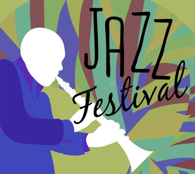 Retro Affiche van het Jazzfestival stock illustratie