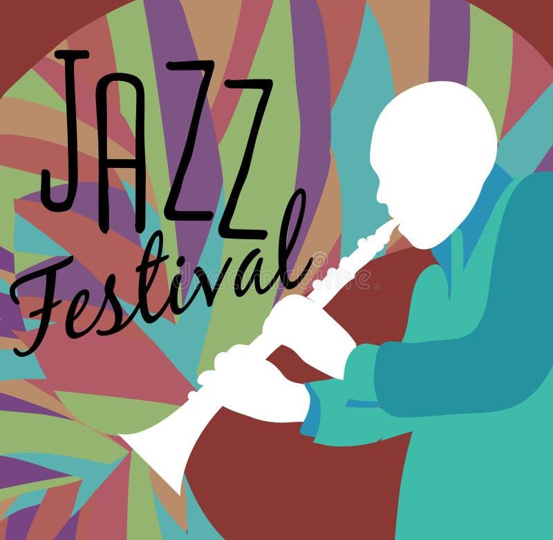 Retro Affiche van het Jazzfestival vector illustratie