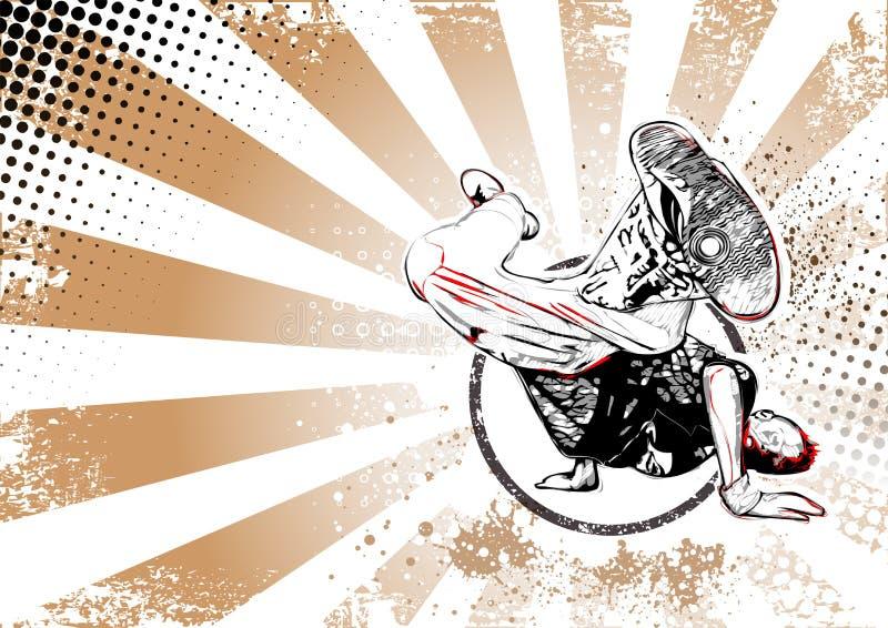 Retro affischbakgrund för säkerhetsbrytare stock illustrationer