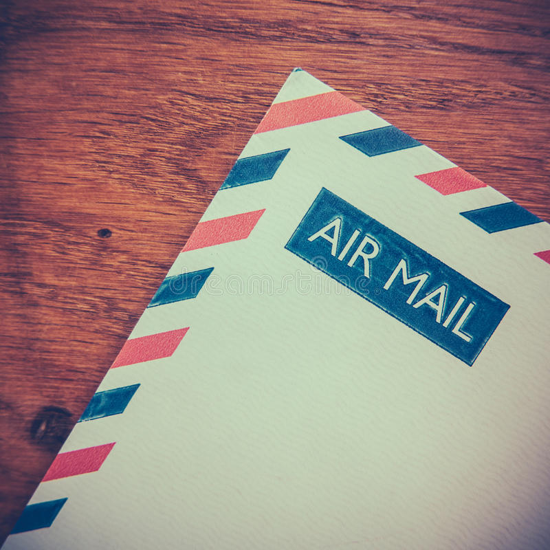 Retro Air Mail Envelope stock photography