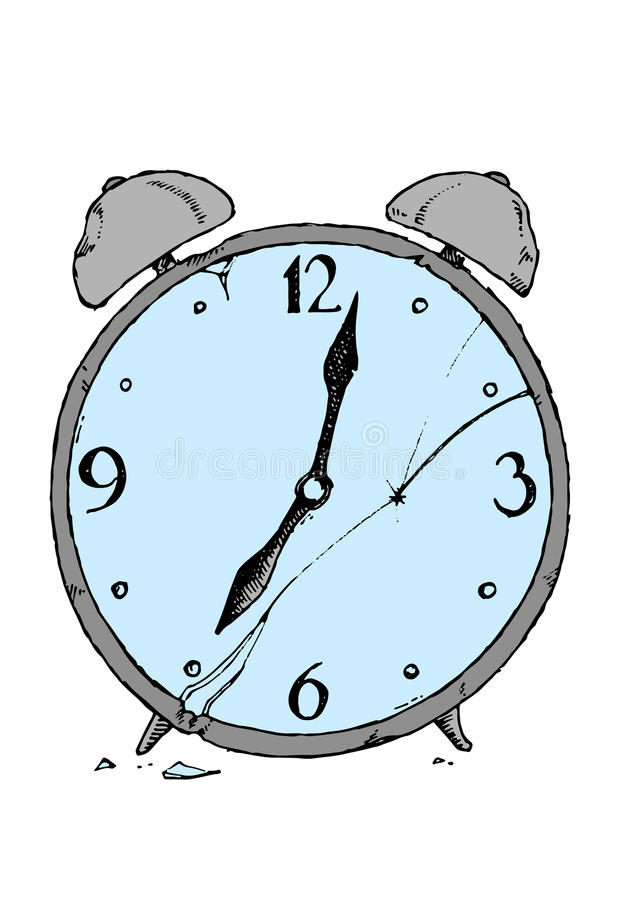 Retro alarm clock stock illustration
