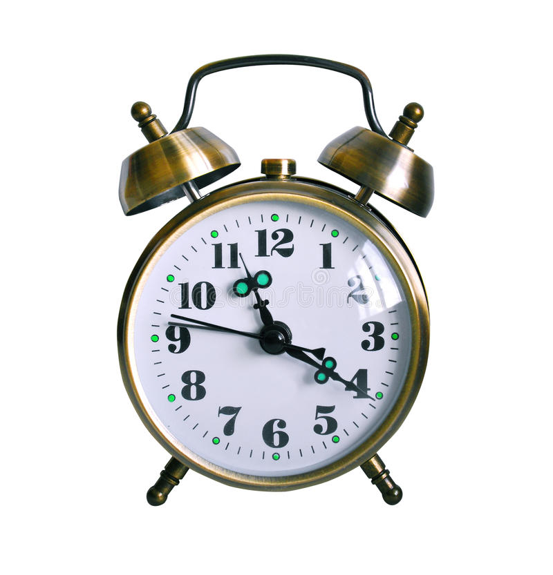 Download Retro Alarm clock isolated stock photo. Image of isolated - 26755954