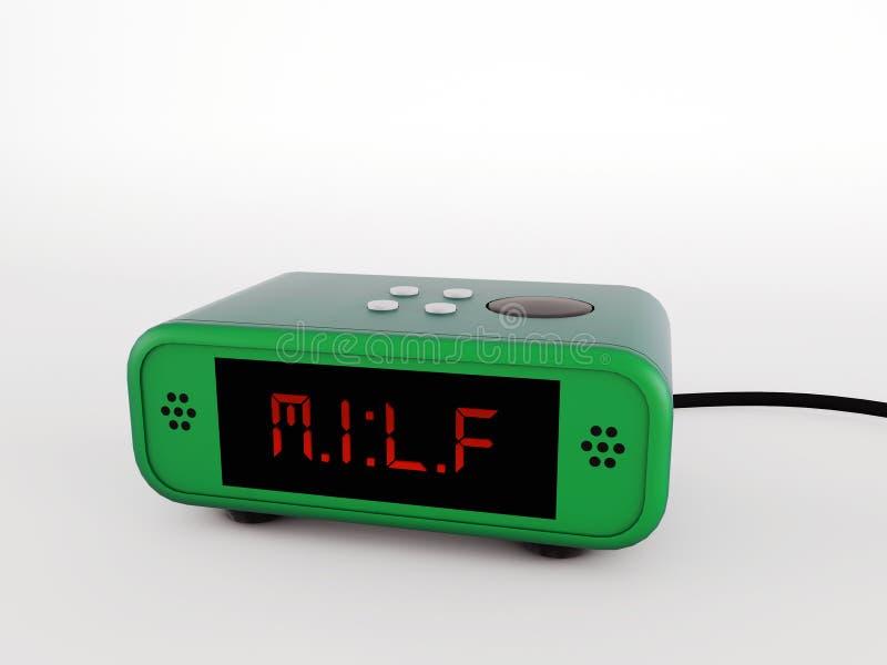 Retro- Alarmuhrgrün stock abbildung