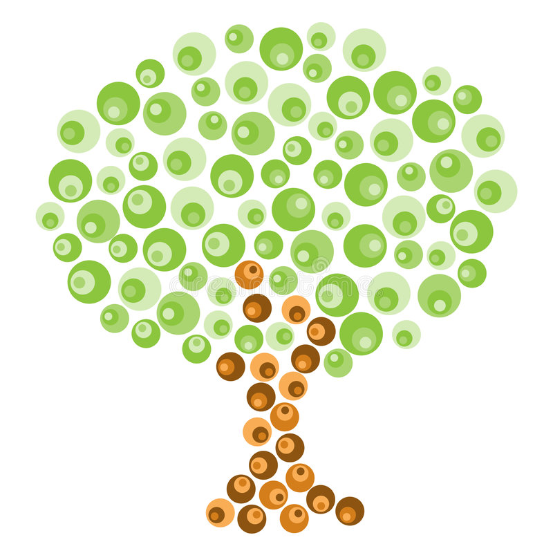 Retro albero illustrazione di stock