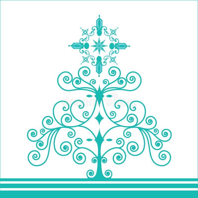 Retro albero di Natale Funky della bobina illustrazione vettoriale