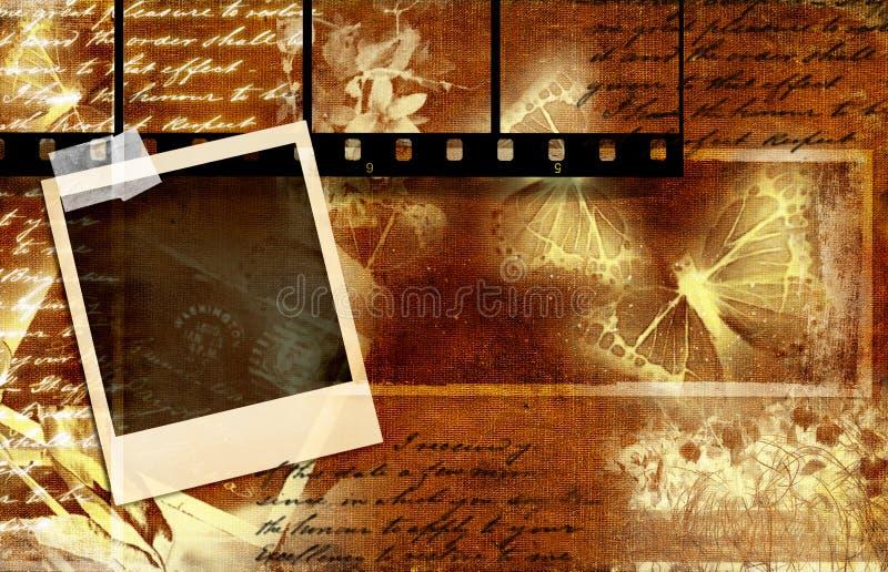 Retro album illustrazione di stock