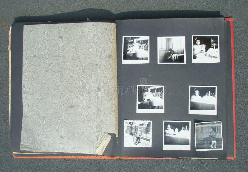 Retro album di foto immagine stock