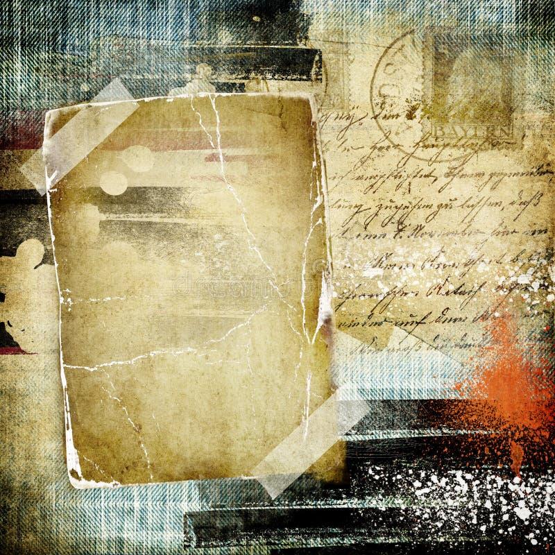 retro albumfoto royaltyfri illustrationer