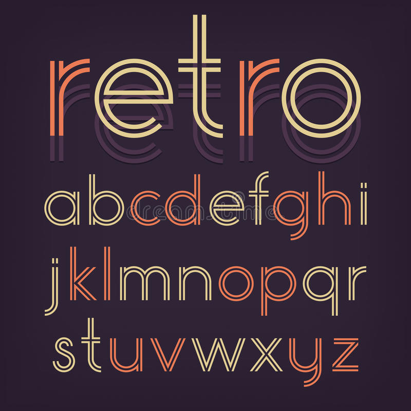 Retro Alfabet stock illustratie