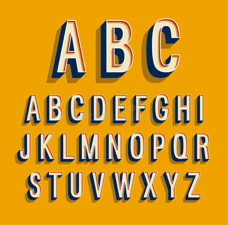 Retro alfabeto illustrazione di stock