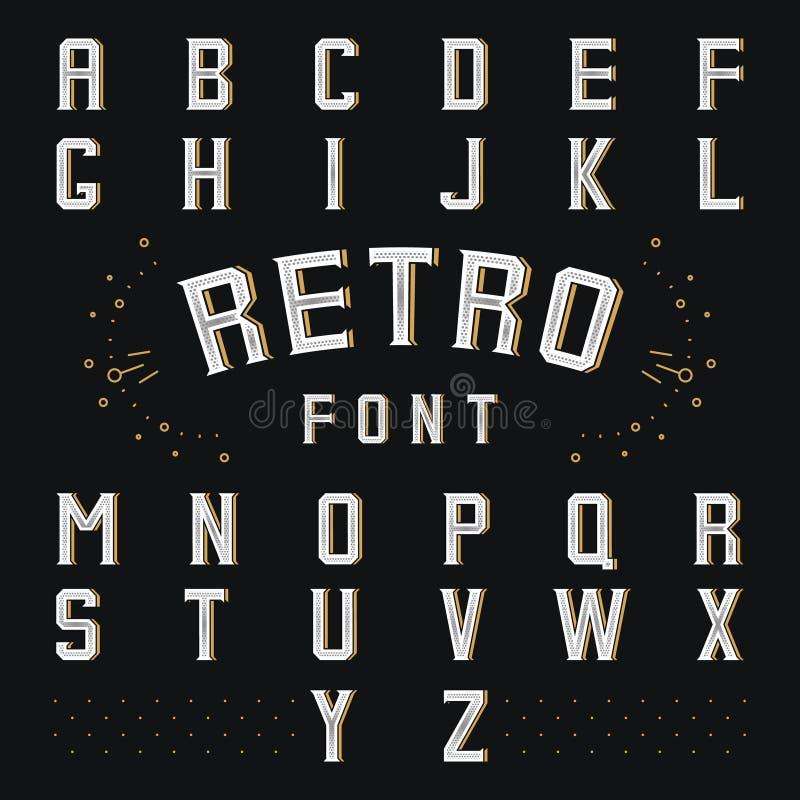 Retro alfabeto di Chicago illustrazione vettoriale