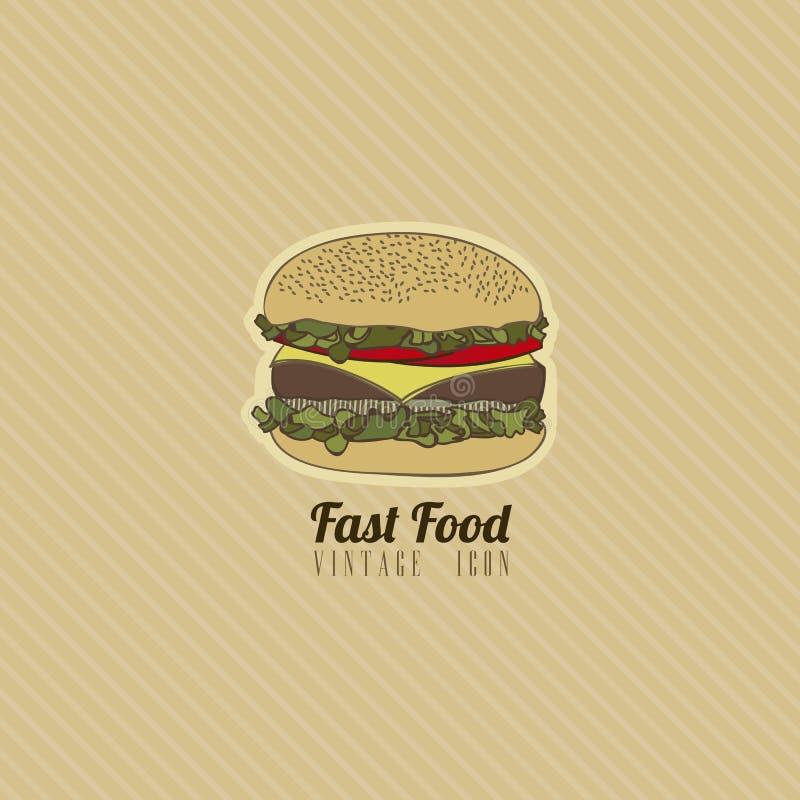 Retro alimenti a rapida preparazione royalty illustrazione gratis