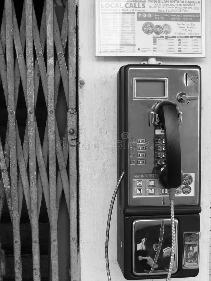 Retro- allgemeines Lohntelefon lizenzfreie stockfotos