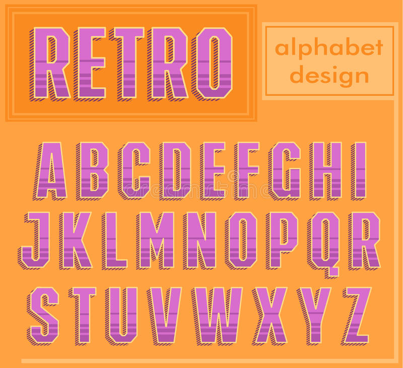 Retro Alphabet Design. stock image