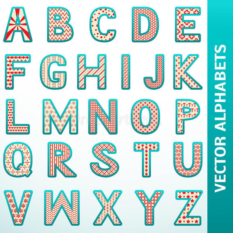 Download Retro alphabet letters stock vector. Image of bright - 31793722