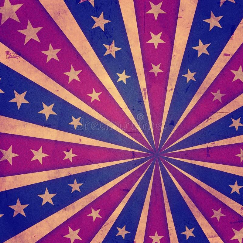 Retro amerikansk bakgrund royaltyfri illustrationer