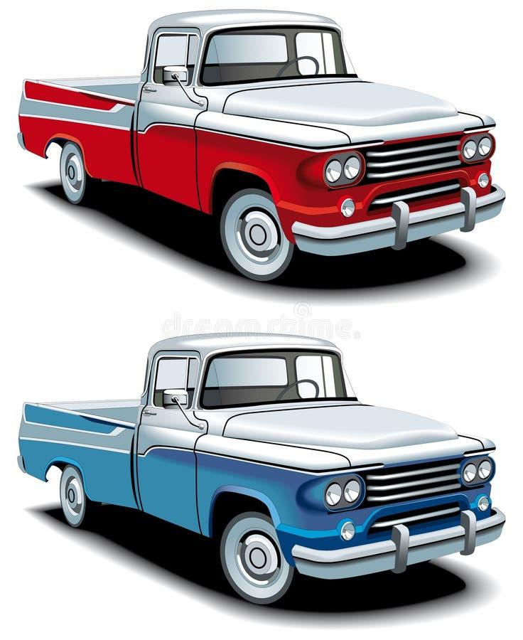 retro amerykański pickup ilustracja wektor