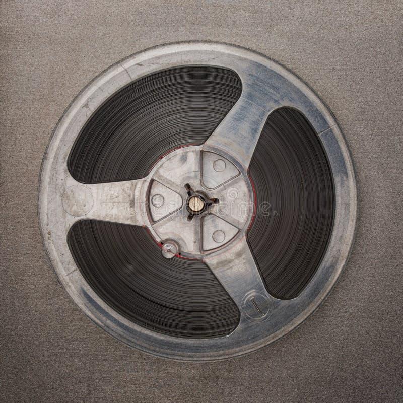 Retro analog reeel to reel magnet tape recorder. stock photo