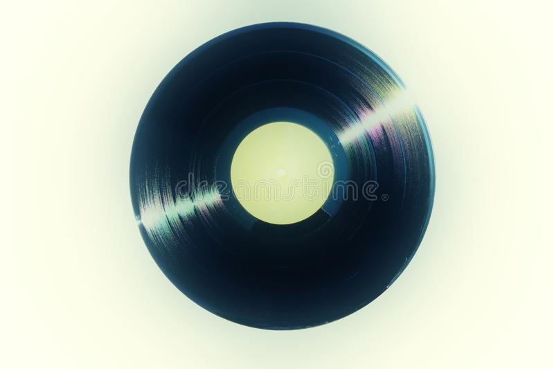 Retro analogue style image of a vinyl record royalty free stock photos