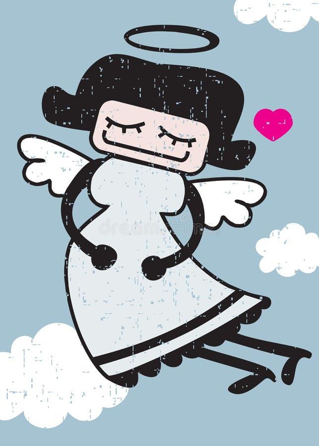 Download Retro angel. stock vector. Image of illustration, design - 32658056