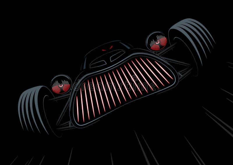 Retro- angeredetes Monsterauto lizenzfreies stockfoto