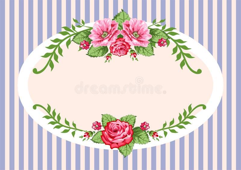 Retro annata delle rose di vettore royalty illustrazione gratis