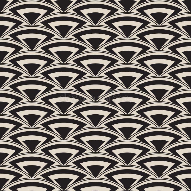 Retro antiek naadloos patroon in art decostijl stock illustratie