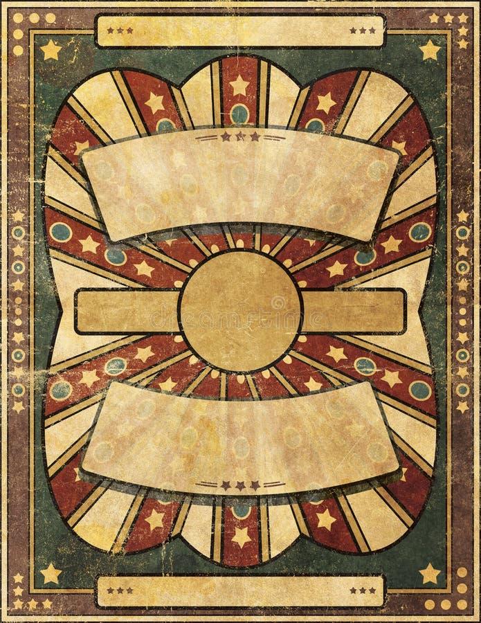 Retro Antieke Achtergrond van de Stijlgrunge Beschadigde Affiche vector illustratie