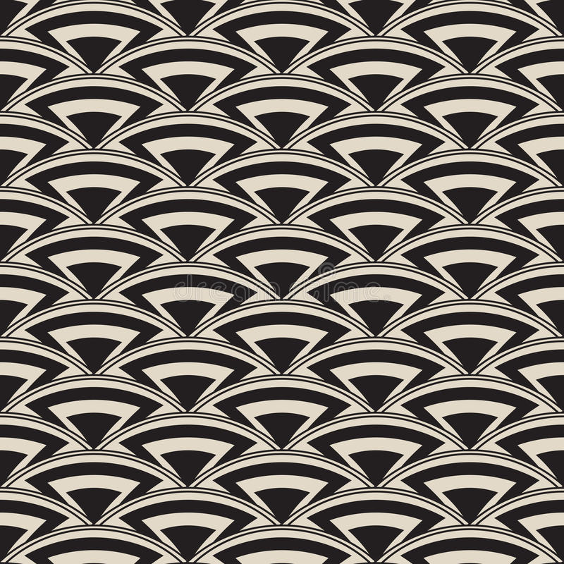 Retro antique seamless pattern in art deco style stock illustration