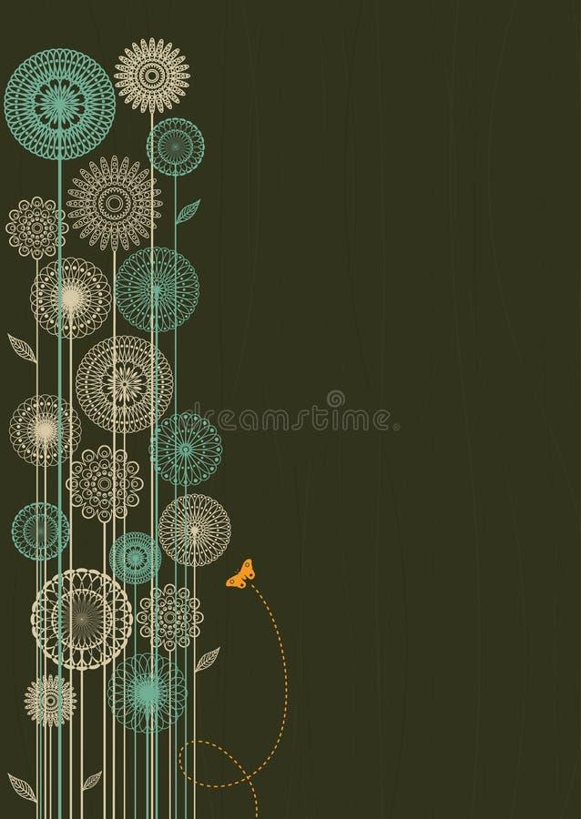 Retro- Art-Blumenhintergrund stock abbildung