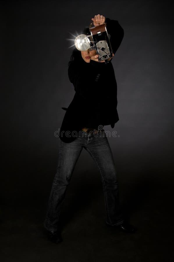 Retro- Art-Fotograf stockfotografie