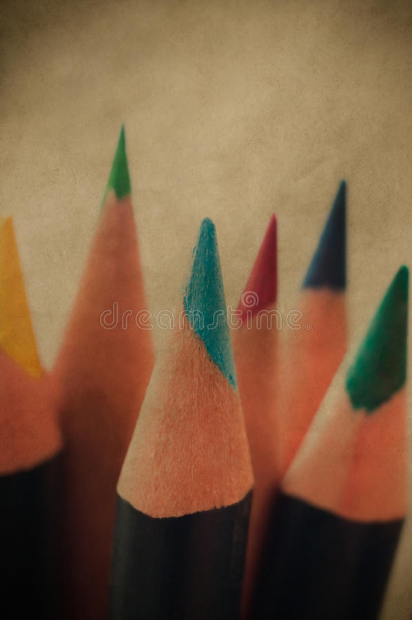 Retro Art Pencils royalty free stock images