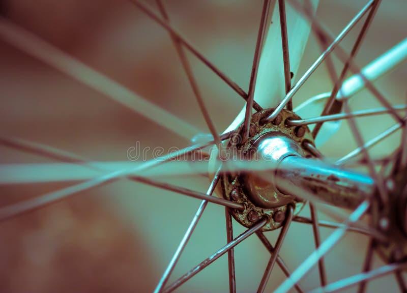 Retro artistieke close-up van de Grungestijl op een fiets royalty-vrije stock foto's