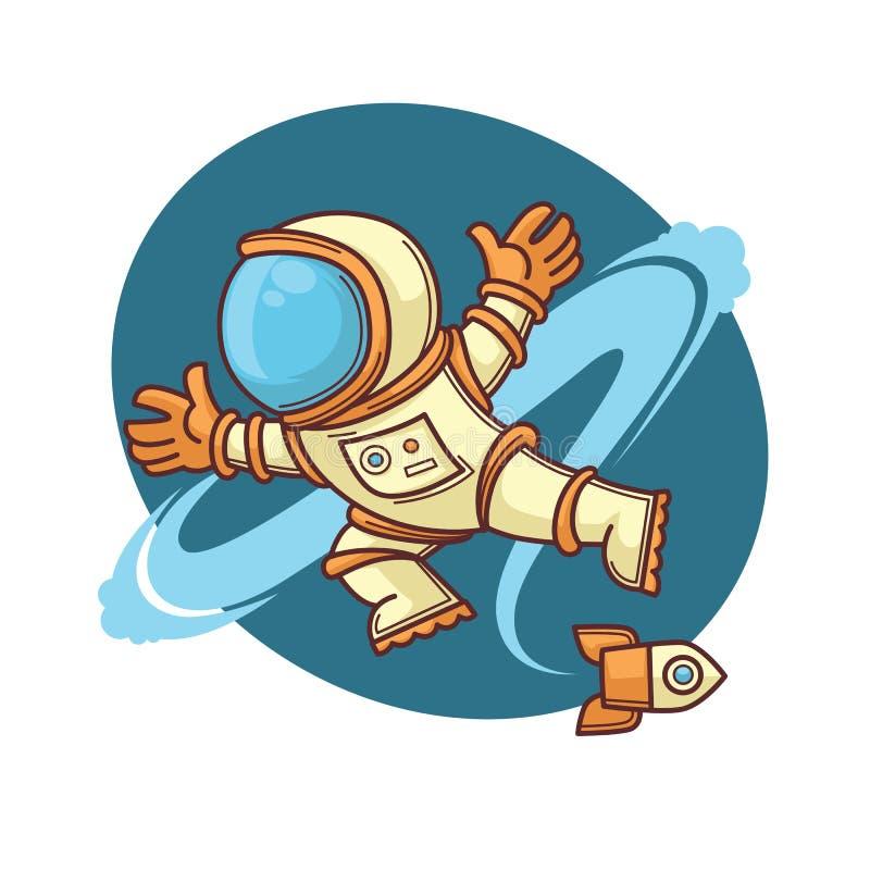 Retro astronaut vector illustratie